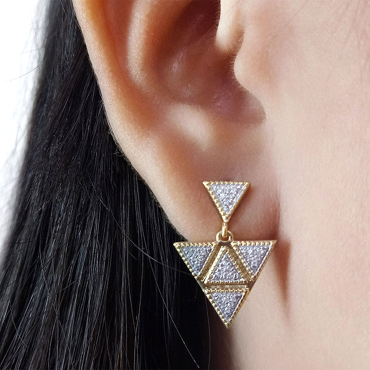Wearing An Original Earrings in Gold