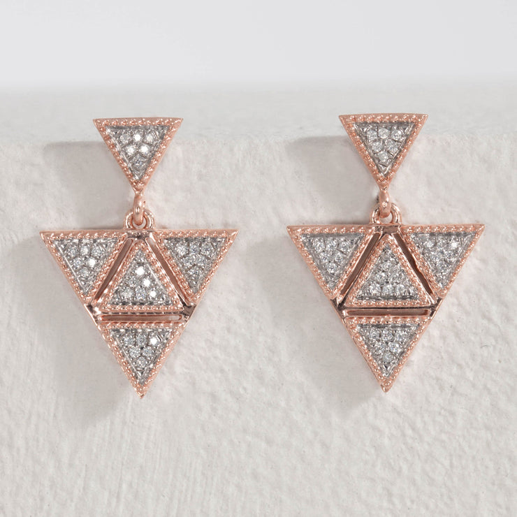 An Original Earrings in Rose Gold