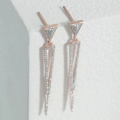 The Only Drama Needed Rose Gold Dangle Earrings