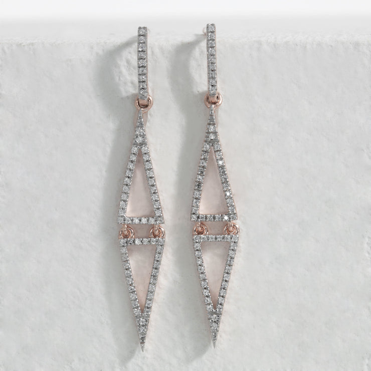 See Eye to Eye Rose Gold Dangle Earrings