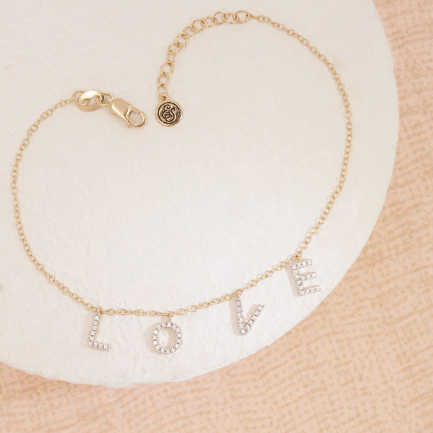 Falling In Love (With You) Gold and Diamond Bracelet