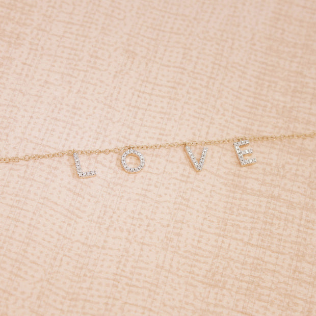 Falling In Love (With You) Gold and Diamond Bracelet, alt view