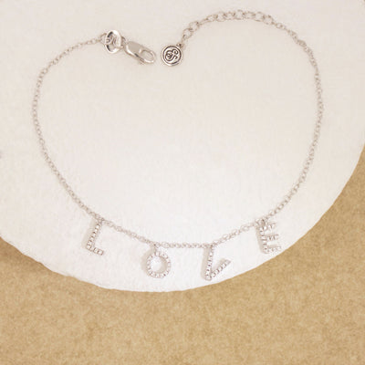 Falling In Love (With You) Sterling Silver and Diamond Bracelet