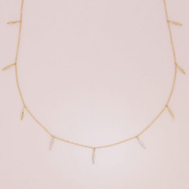 Flirting With You Gold and Diamond Necklace Detail