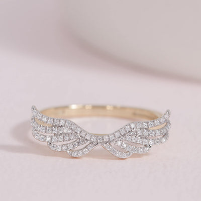 Fly Away With Me Gold and Diamond Ring