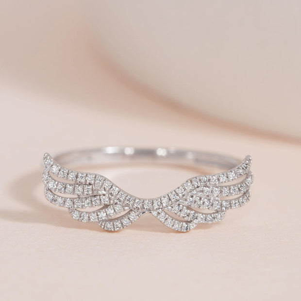 Fly Away With Me Sterling Silver and Diamond Ring
