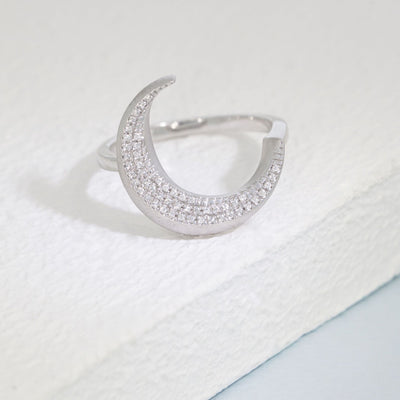 Fly Me To The Moon Sterling Silver and Diamond Ring