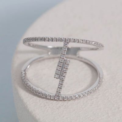 Get Charged Sterling Silver and Diamond Ring