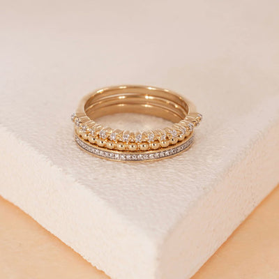I Pick You Gold Ring Stack