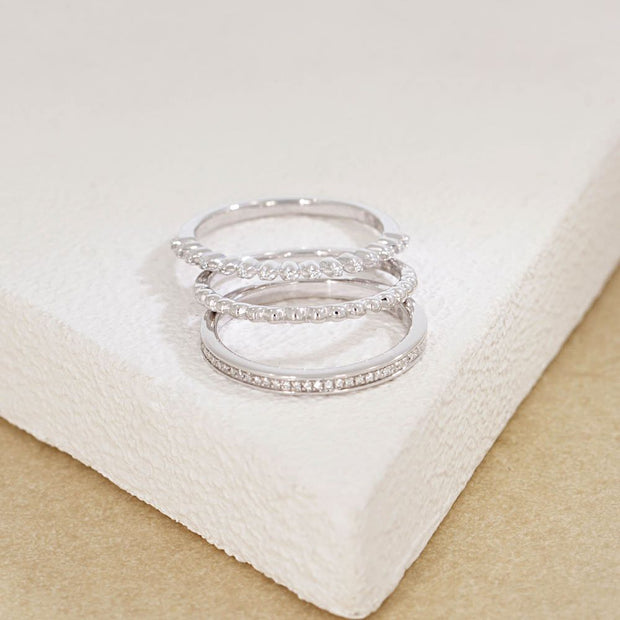 I Pick You Sterling Silver Ring Stack