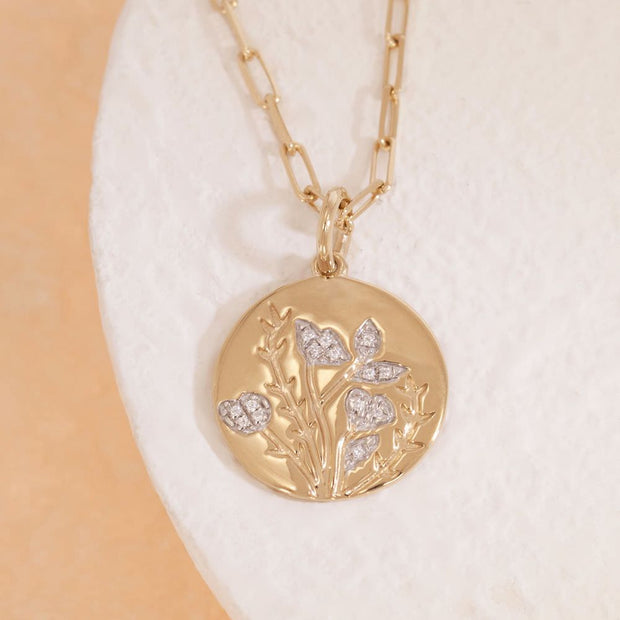 In Full Bloom Gold and Diamond Necklace