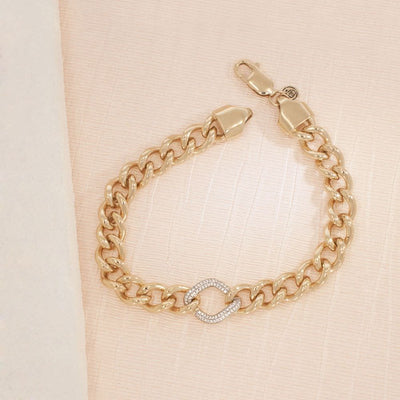 It Starts Within Gold and Diamond Bracelet