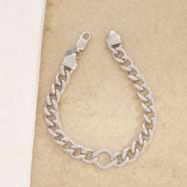 It Starts Within Sterling Silver and Diamond Bracelet