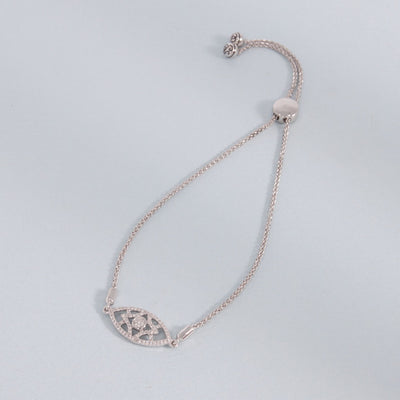 Lattice Love Sterling Silver and Diamond Bracelet