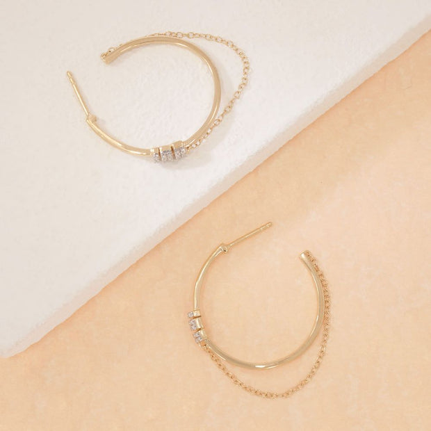 Let's Hang Gold Hoop Earrings