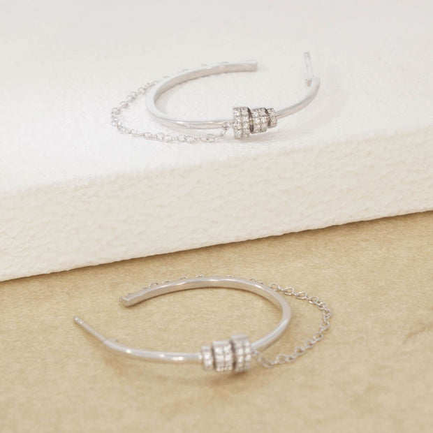 Let's Hang Sterling Silver Hoop Earrings