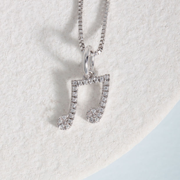 Make Waves Sterling Silver and Diamond Necklace