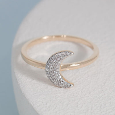 Mooning Over You Gold and Diamond Ring