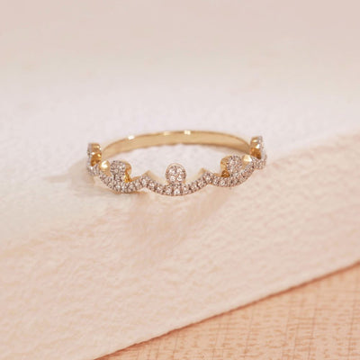 Moving Forward Gold and Diamond Ring