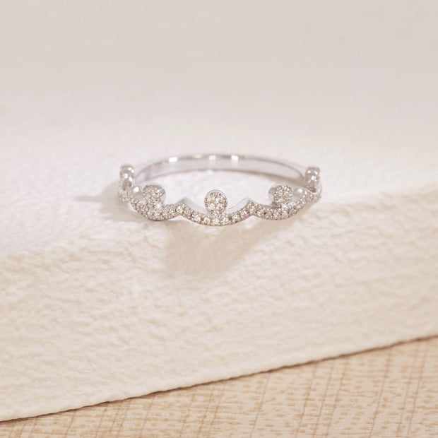 Moving Forward Sterling Silver and Diamond Ring