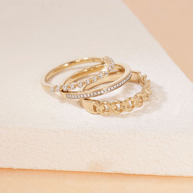 My Favorite Stack Of Gold Rings