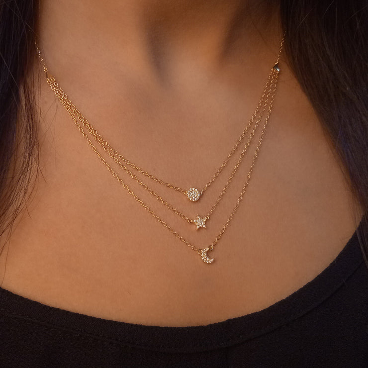 Sky's the Limit Gold Necklace