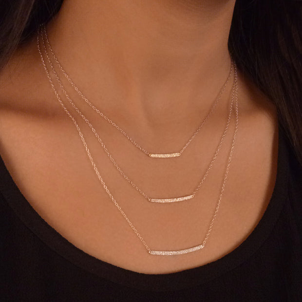 Wearing To the Next Level Mixed Metal Diamond Necklace