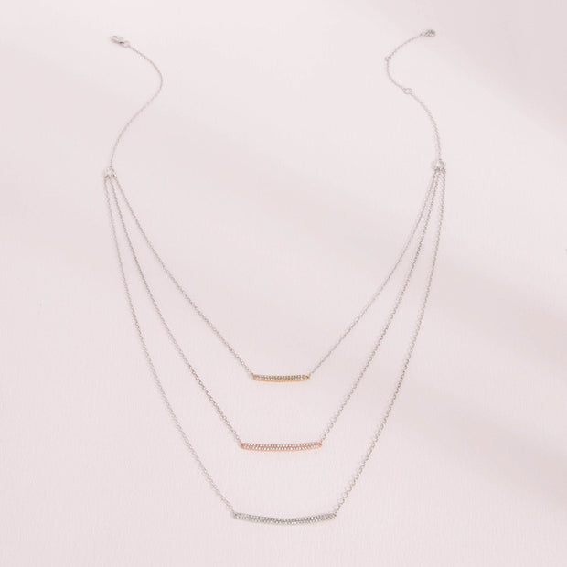 To the Next Level Mixed Metal Diamond Necklace