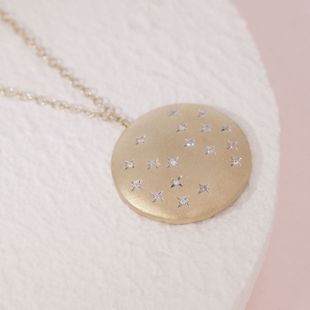 Oh, Starry Night Gold and Diamond Necklace, alternative view
