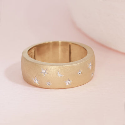 One Perfect Night With You Matte Gold and Diamond Ring