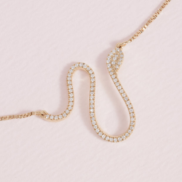 Mighty Asp Gold and Diamond Necklace