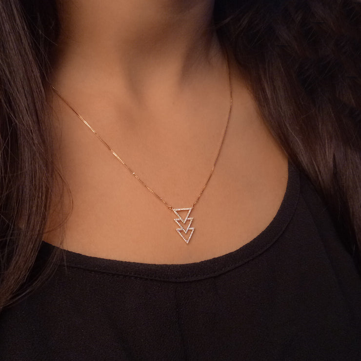 Triple T Sterling Silver Pendant Necklace