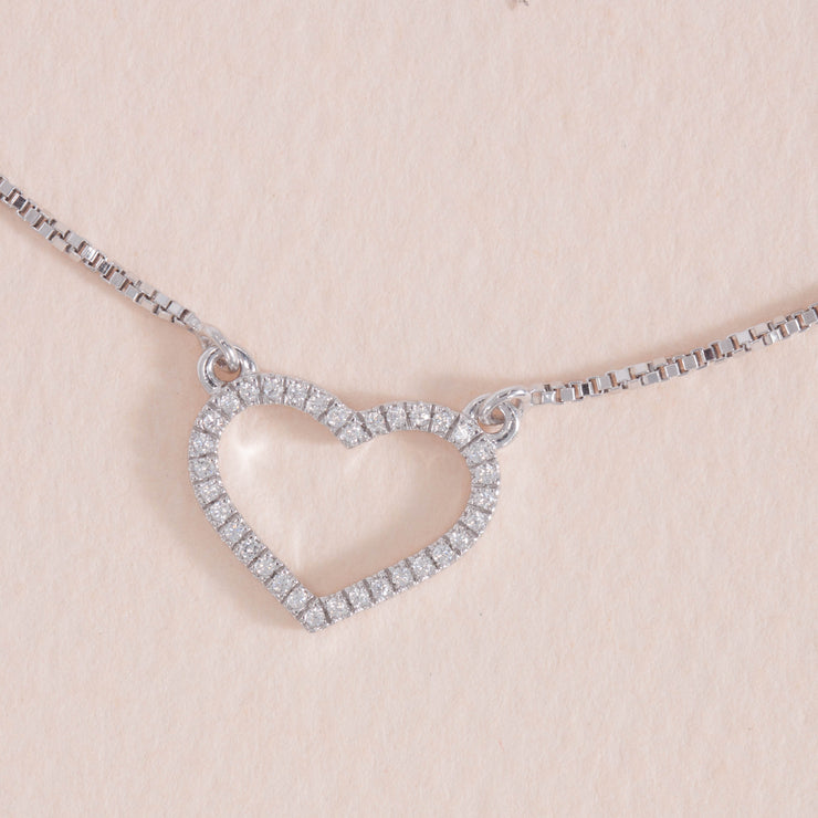 True Love Always Sterling Silver Pendant Necklace