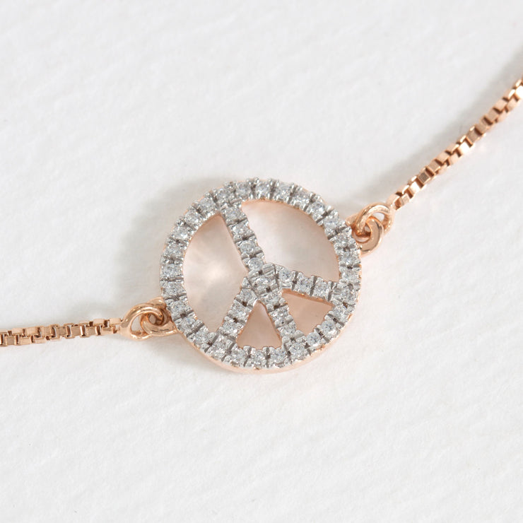 Peace Y'all Rose Gold Pendant Necklace