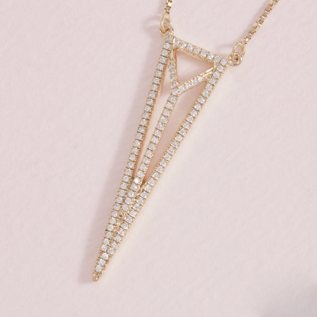Trifecta Gold and Diamond Necklace