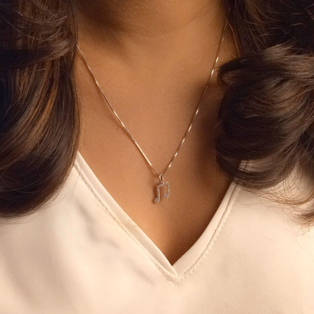 Wearing the Make Music Gold and Diamond Necklace