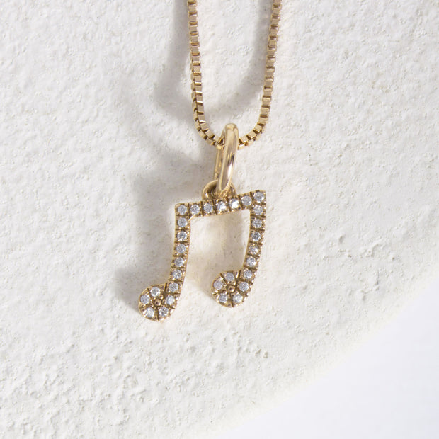 Make Music Gold and Diamond Necklace