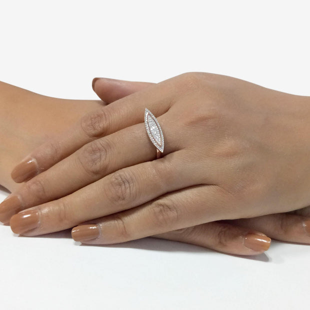 Wearing Paddling Upstream Diamond Ring