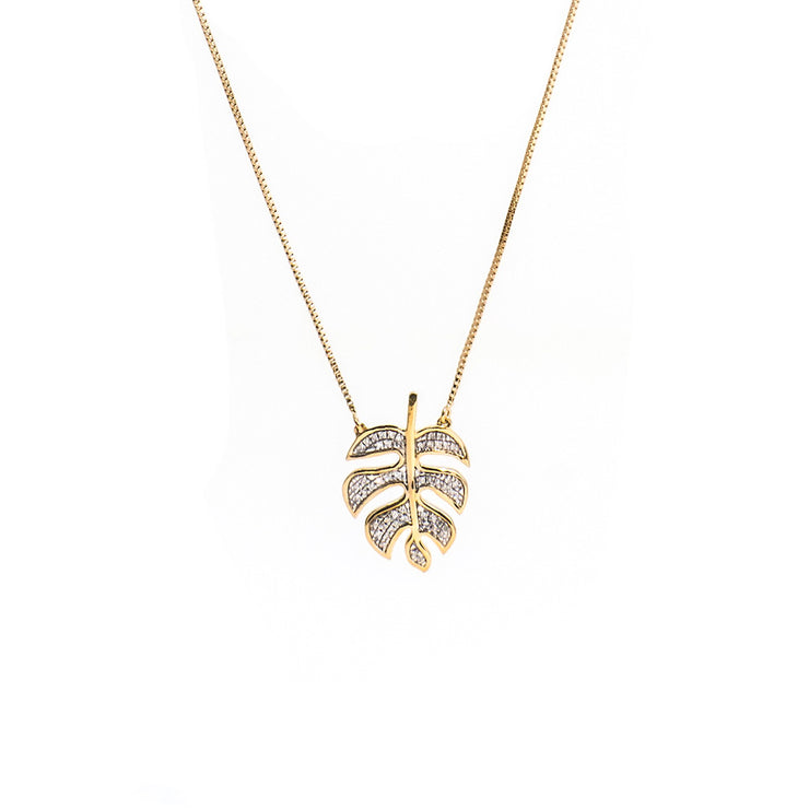 Palm Leaf Dreaming Gold Necklace
