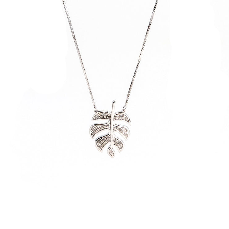 Palm Leaf Dreaming Sterling Silver Necklace