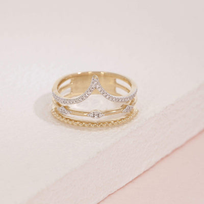Planetary Rhythm Gold and Diamond Ring