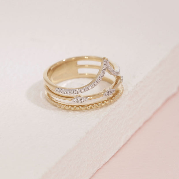 Planetary Rhythm Gold and Diamond Ring, alt view