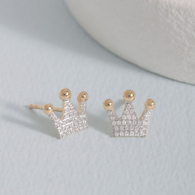 Queen Of All Things Gold and Diamond Earrings