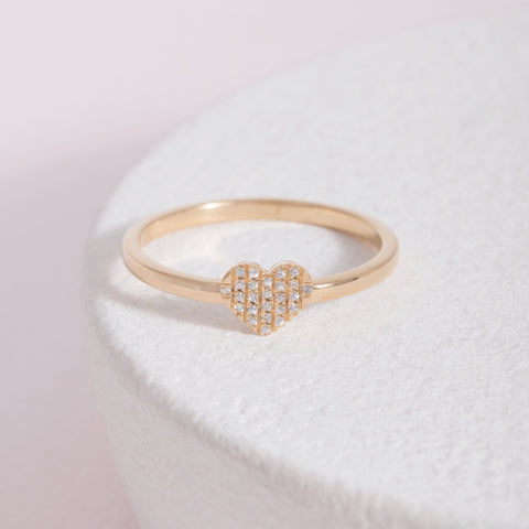 All Heart Gold Ring