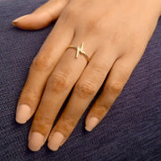Wearing A Force to be Reckoned With Ring in Gold
