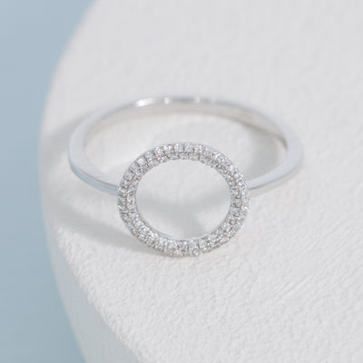 Full Circle Sterling Silver Ring