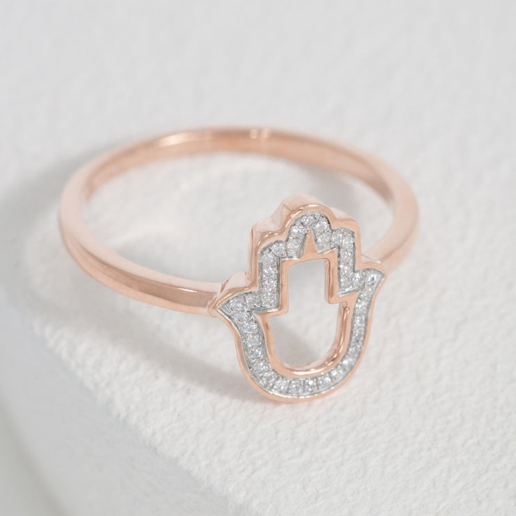 Talk to the Hand Rose Gold Ring