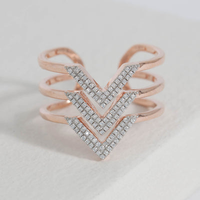 Hail to the V Rose Gold Ring