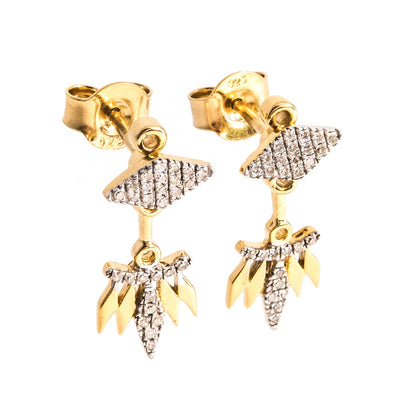Rumba With Me Gold Earrings