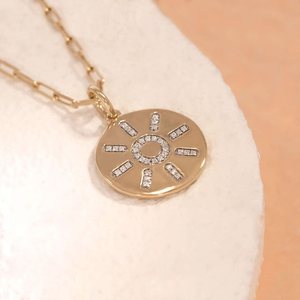 Share Your Sunshine Gold and Diamond Necklace